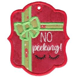 No Peeking Christmas Tag
