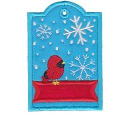 Cardinal Christmas Tag