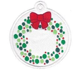 Christmas Wreath Christmas Tag
