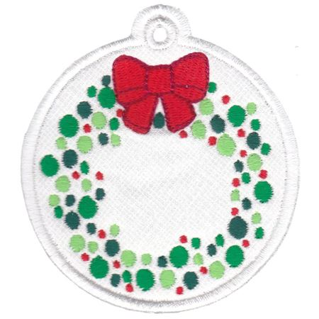 Christmas Wreath Christmas Tag
