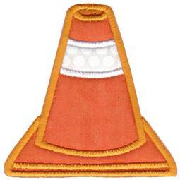 Traffic Cone Applique