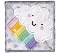 Rainbow Cloud ITH Corner Bookmark