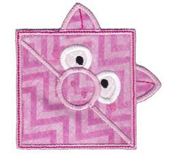Piggy ITH Corner Bookmark