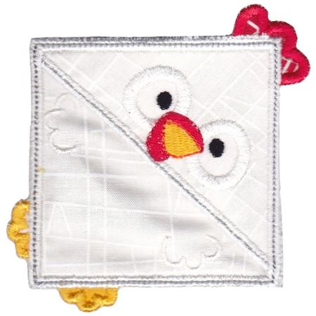 Rooster ITH Corner Bookmark