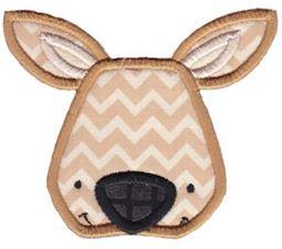 Kangaroo Face Applique