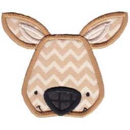 Kangaroo Face Applique