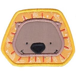 Lion Face Applique