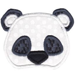 Panda Face Applique