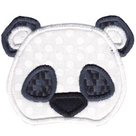 Panda Face Applique