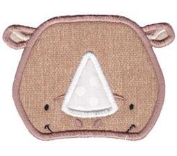 Rhino Face Applique