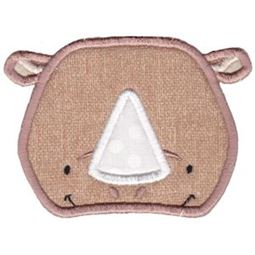Rhino Face Applique