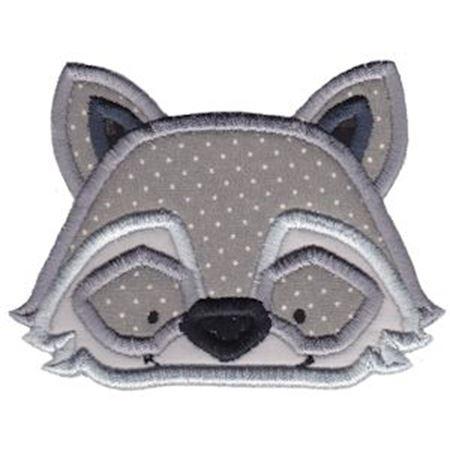 Raccoon Face Applique