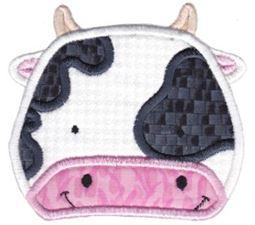 Cow Face Applique