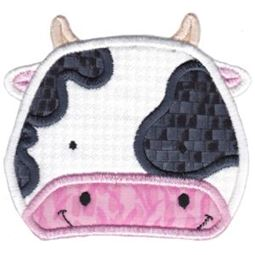 Cow Face Applique