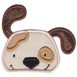 Dog Face Applique