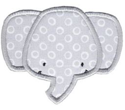 Elephant Face Applique