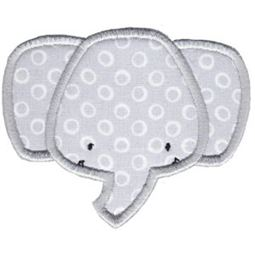 Elephant Face Applique