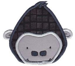 Gorilla Face Applique