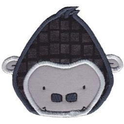 Gorilla Face Applique