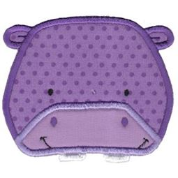 Hippo Face Applique