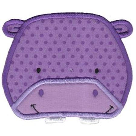 Hippo Face Applique
