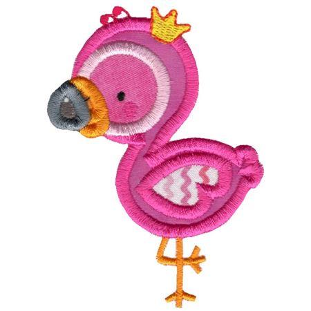 Princess Flamingo Applique Side