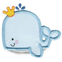 Princess Whale Applique