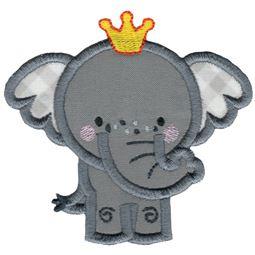 Princess Elephant Applique