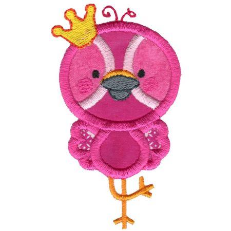 Princess Flamingo Applique Frontal