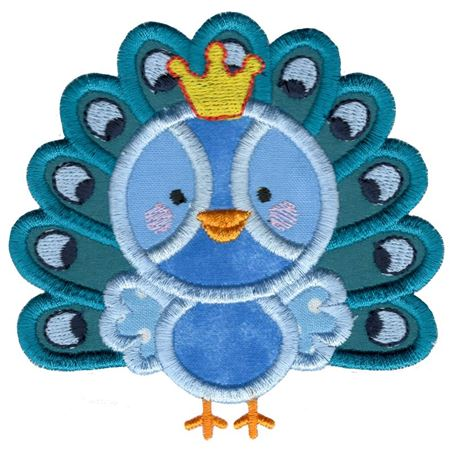 Princess Peacock Applique