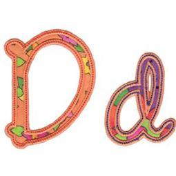 Curly Girl Alphabet Applique D