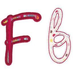 Curly Girl Alphabet Applique F