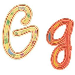 Curly Girl Alphabet Applique G