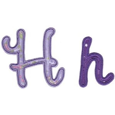 Curly Girl Alphabet Applique H