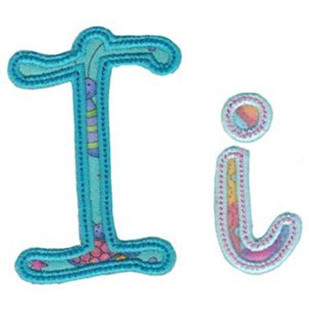 Curly Girl Alphabet Applique I