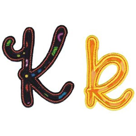 Curly Girl Alphabet Applique K