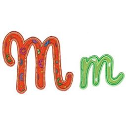 Curly Girl Alphabet Applique M