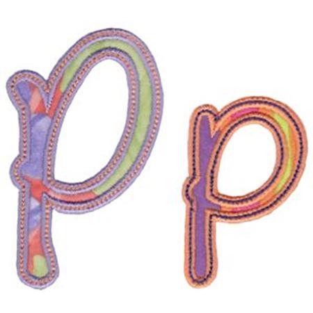Curly Girl Alphabet Applique P