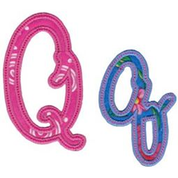 Curly Girl Alphabet Applique Q