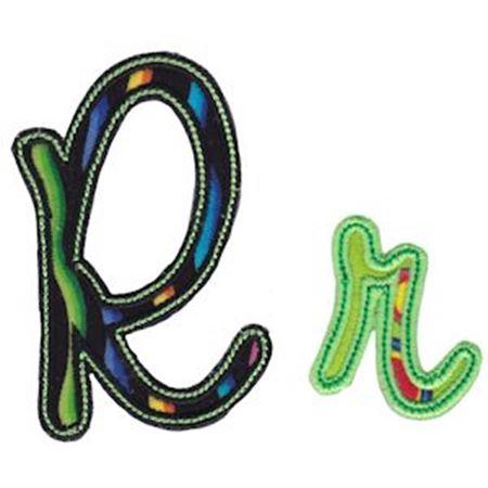 Curly Girl Alphabet Applique R