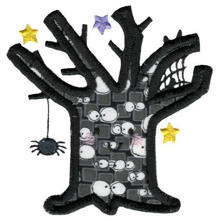 Applique Spooky Tree