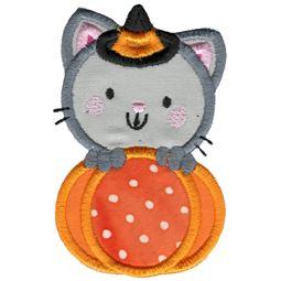 Applique Cat and Pumpkin