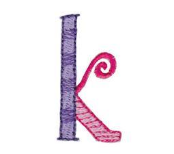 Dangles Lower Case Alphabet k