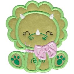 Dinosaur Girl Applique 10