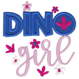 Dinosaur Girl Applique 11
