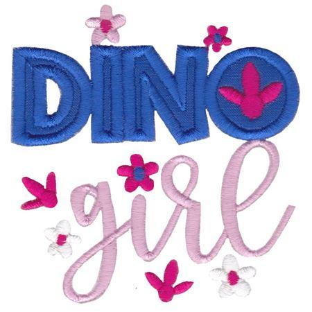 Dinosaur Girl Applique 11