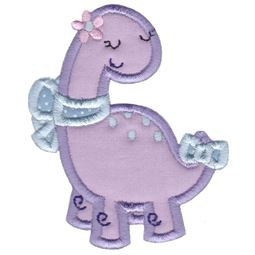 Dinosaur Girl Applique 2