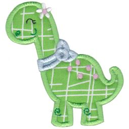 Dinosaur Girl Applique 7