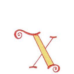 Dominique Alphabet Lower Case x