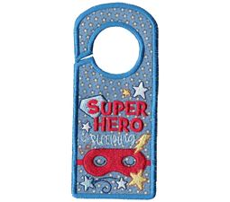 Superhero Sleeping Door Hanger